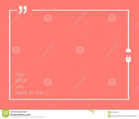 quotation marks layout quotation mark frame with flat style and space for text