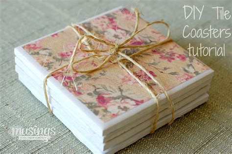 How To Make Handmade Coasters - diy tile coasters tutorial living well