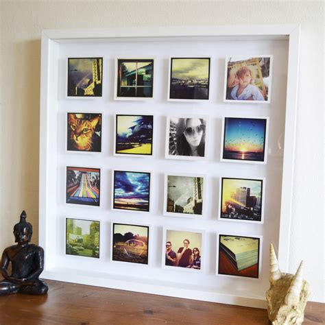 how to frame a print personalised photos 3d box framed print by instajunction