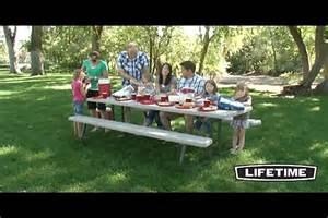 Costco Picnic Table Lifetime 8 Folding Picnic Table 187 Video Gallery