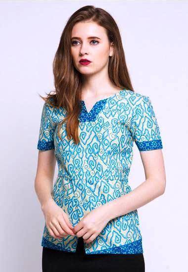 Baju Atasan Wanita Azzura 012 ッ 42 model baju batik atasan wanita kerja lengan panjang