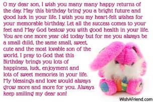 11631 son birthday messages