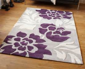 modern purple aubergine plum colour rugs in large small