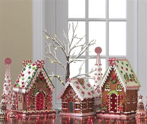 iced gingerbread house clay dough christmas decoration new