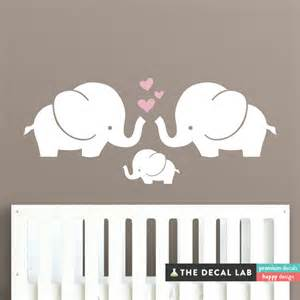 Elephant Wall Stickers Elephant Family Wall Decal Cute Baby Nursery Decal Sticker