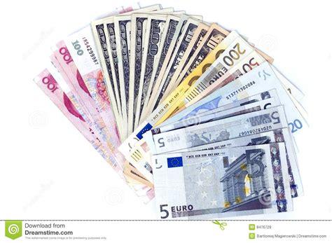 scendi dal piedistallo baby banconote differenti a forma di ventaglio immagine stock