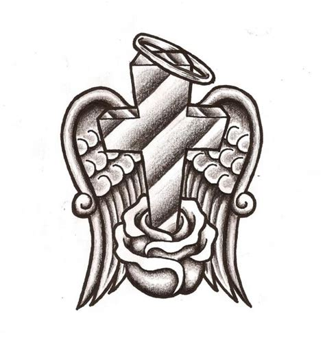 cross with halo tattoo free wings and halo free clip free clip