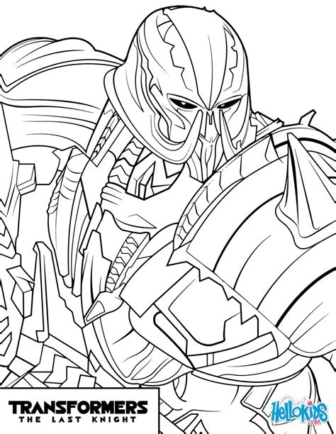 megatron transformers pages coloring pages