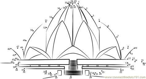 coloring pages of india gate drawing of lotus temple www pixshark com images