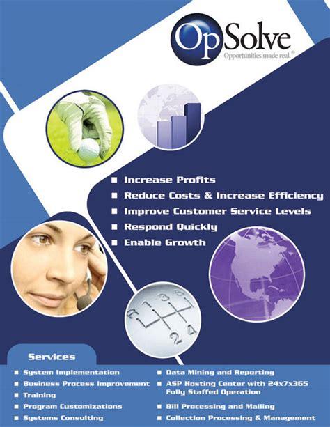 flyer design on behance opsolve promotional flyer design on behance