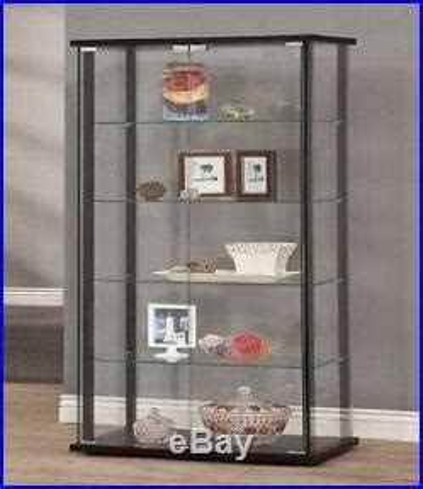 Wood And Glass Corner Display Cabinets by Glass Curio Cabinet Display Showcase Shelf Wall Storage