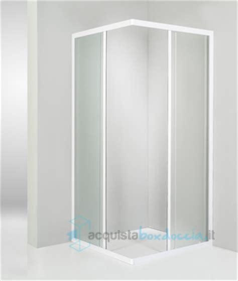 piatto doccia 85x85 box doccia angolare porta scorrevole 85x85 cm opaco bianco