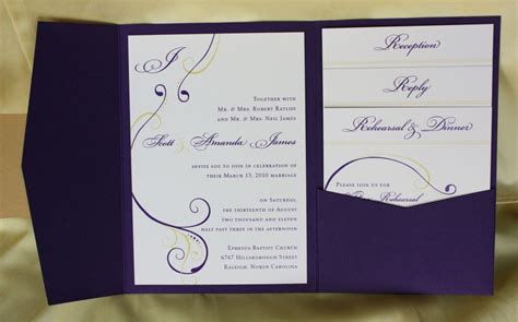 Images Of Wedding Cards Invitation For Inspiration Pocketfold Wedding Invitations Purple Simple Wedding Card Template