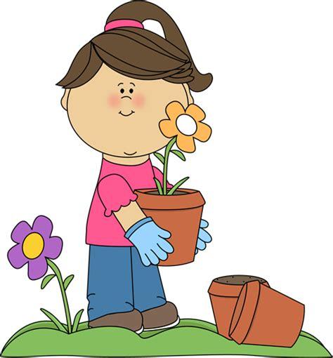 clip gardener planting flowers clip planting flowers image