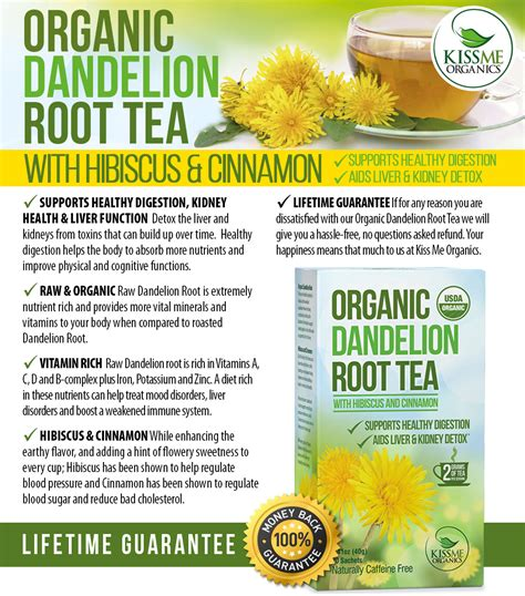 Roasted Dandelion Spice Detox Tea Benefits by How To Make Dandelion Root Tea Taste Better Dessert