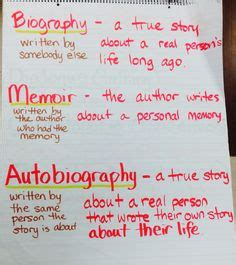 biography and autobiography test awesome autobiographies in the upper grades anchor