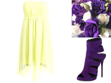 yellow dress and purple shoes dress edin