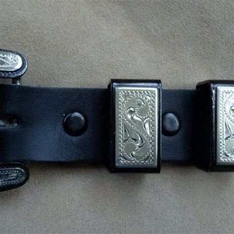 Ranger Belts Handmade - custom handmade 4 pc ranger buckle set black iron with