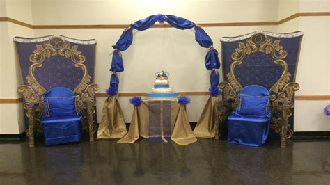 decorations beautiful  royal prince baby shower