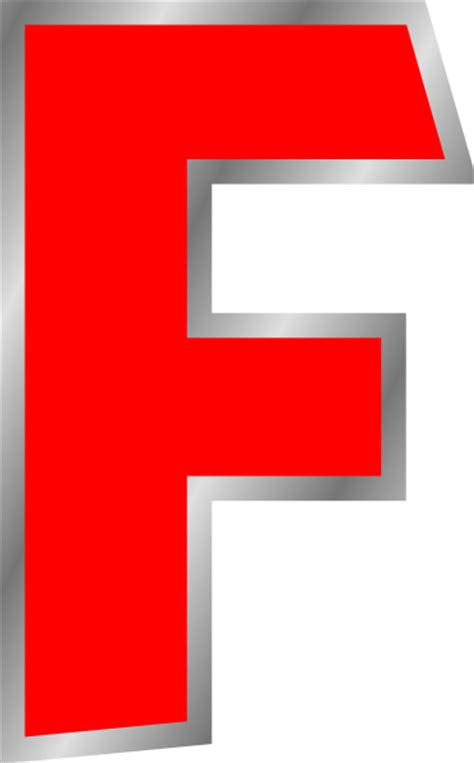 Letter F Clip Art At Clker Com Vector Clip Art Online