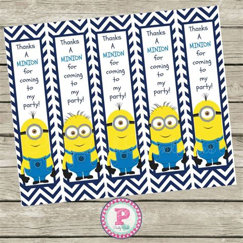 minion thank you card template free free minion thanks a minion for coming to my