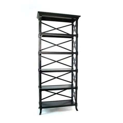 black 5 shelf bookcase shop wayborn furniture charter black wood 5 shelf bookcase