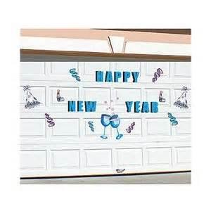 Garage Door Magnets Happy New Year Graphic Display Shapes Steel Garage