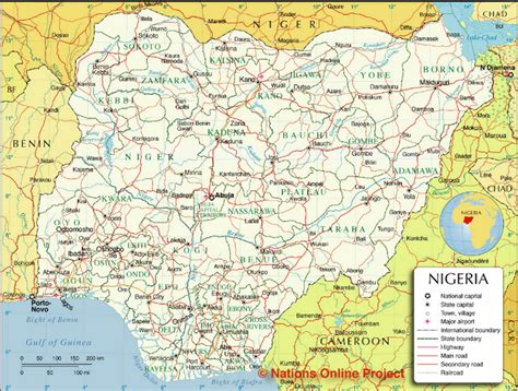 political map of nigeria ezilon maps maps of various states and their local governments in