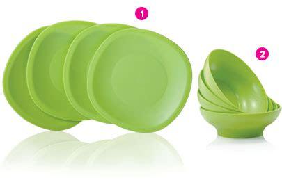 4 Pcs Crescendo Plate Tupperware tupperware blossom serving plater hijau daftar harga