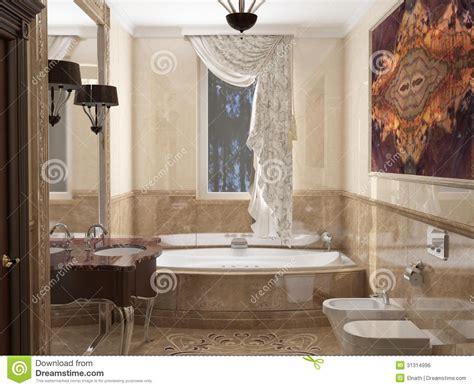 classic bathroom styles interior the bathroom in classic style stock illustration