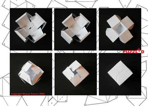 3d Paper Folding Templates - 3d cube puzzle cube folding from a series