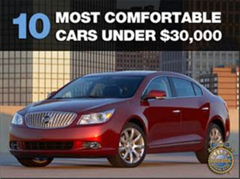 the most comfortable cars 10 most comfortable cars under 30 000 kelley blue book