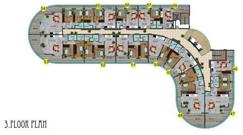 Apartment Blueprints Modern Residential Complex With Finest Architecture In