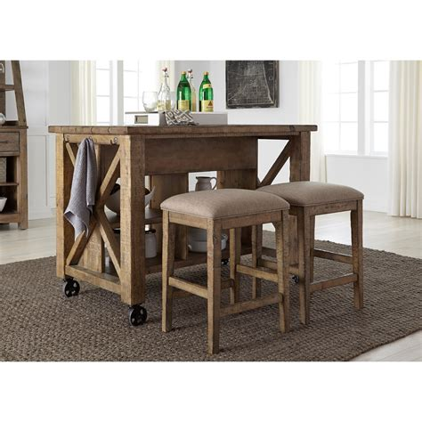 Valley Bar Table Liberty Furniture Prescott Valley Rustic Gathering Table Set Wayside Furniture Pub Table And