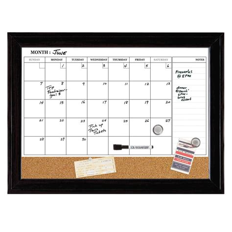 Wall Calendar Erase Quartet Home Decor Magnetic Combination