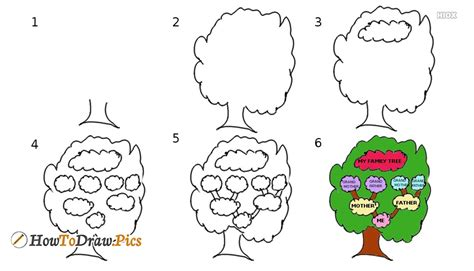 how to draw a family tree template drawing practice how to draw a simple family tree draw a