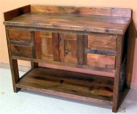 barn board bathroom vanity minnesota reclaimed wood bathroom vanity