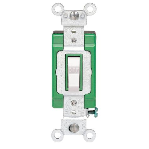 leviton 30 industrial pole switch white r62