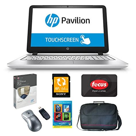 Anti Virus Hp hp pavilion 15 p033cl amd a10 15 6 touchscreen office suite anti virus bundle refurbished