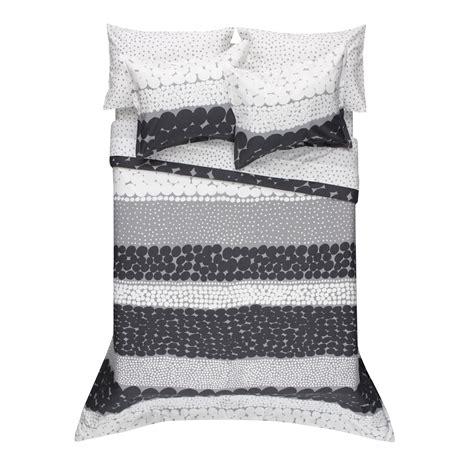 marimekko jurmo grey white duvet cover set