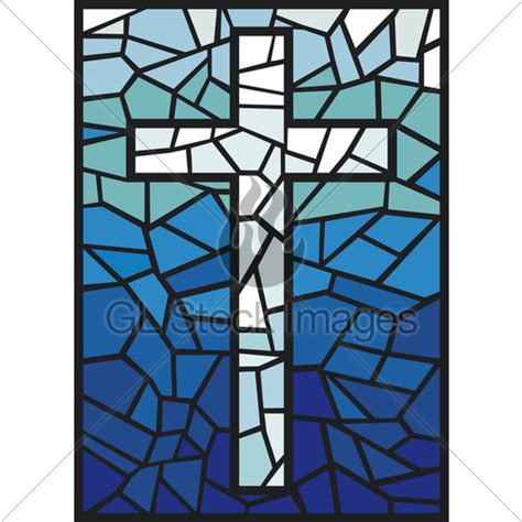 stained glass cross l vector stained glass cross 183 gl stock images