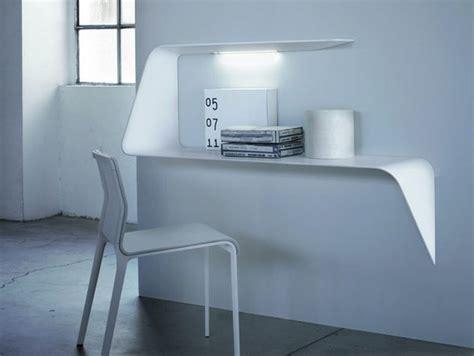 mdf italia mensola scrivania da parete con illuminazione
