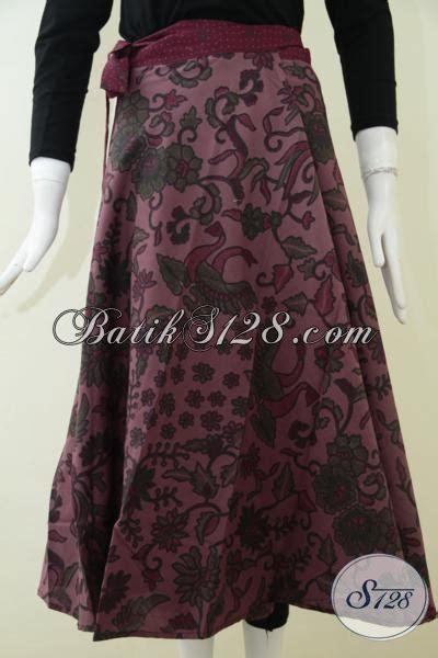 rok batik cantik model lilit terbaru warna kalem soft