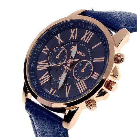 Geneva Jam Tangan Wanita Analog Quartz Wrist Brown aliexpress buy 2015 new fashion geneva numerals faux leather analog quartz