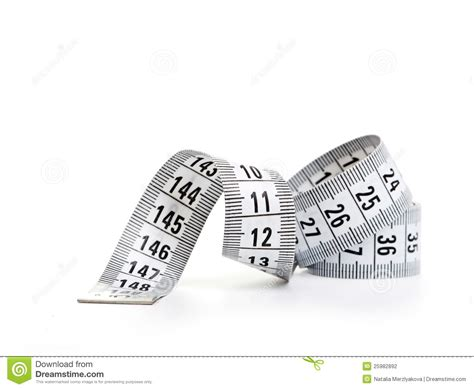 white tape measuring stock photography image