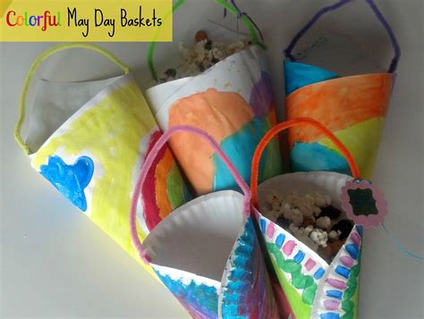 may day crafts for craft colorful may day baskets