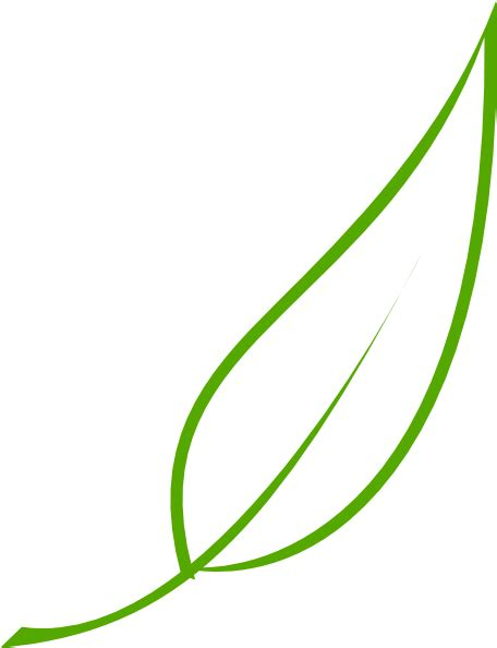 Green Leaf Outline Png by Leaf Clip At Clker Vector Clip Royalty Free Domain