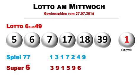 lotto am mittwoch wann lottozahlen 6aus49 ziehung vom lotto am mittwoch 27 7