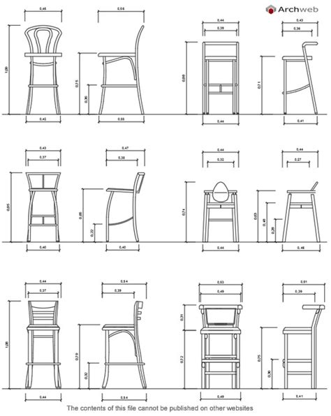 sgabelli bar dwg stools cad blocks