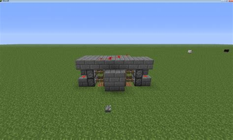 Minecraft How To Make A Door by Minecraft How To Make An Advanced Piston Door Minecraft